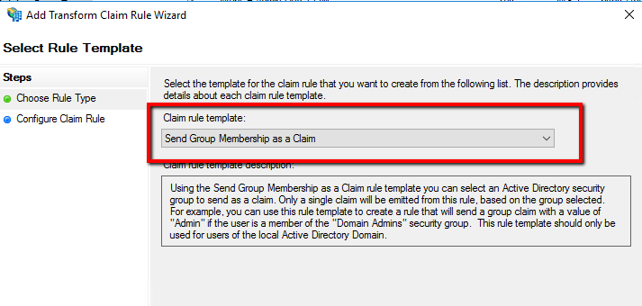 Configure group membership as claim