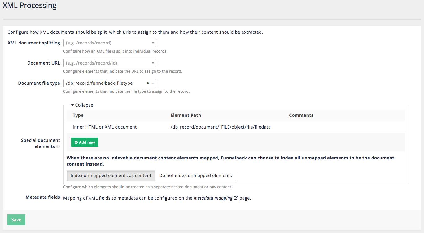 XML documents - Funnelback Documentation - Version 15 22 0